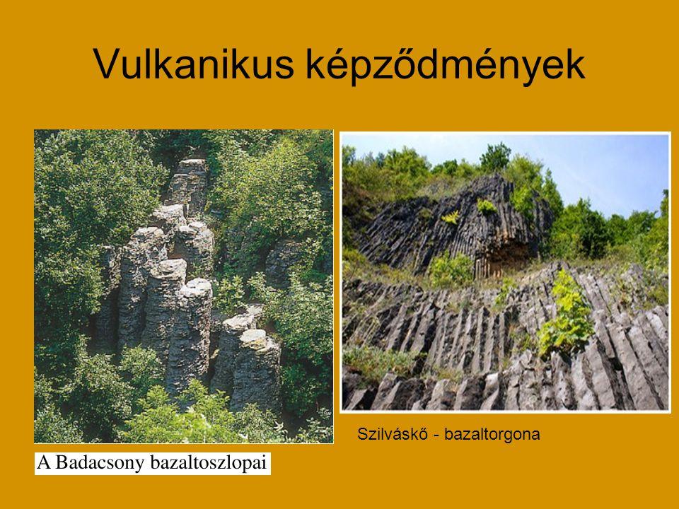 Vulkanikus képződmények Szilváskő - bazaltorgona