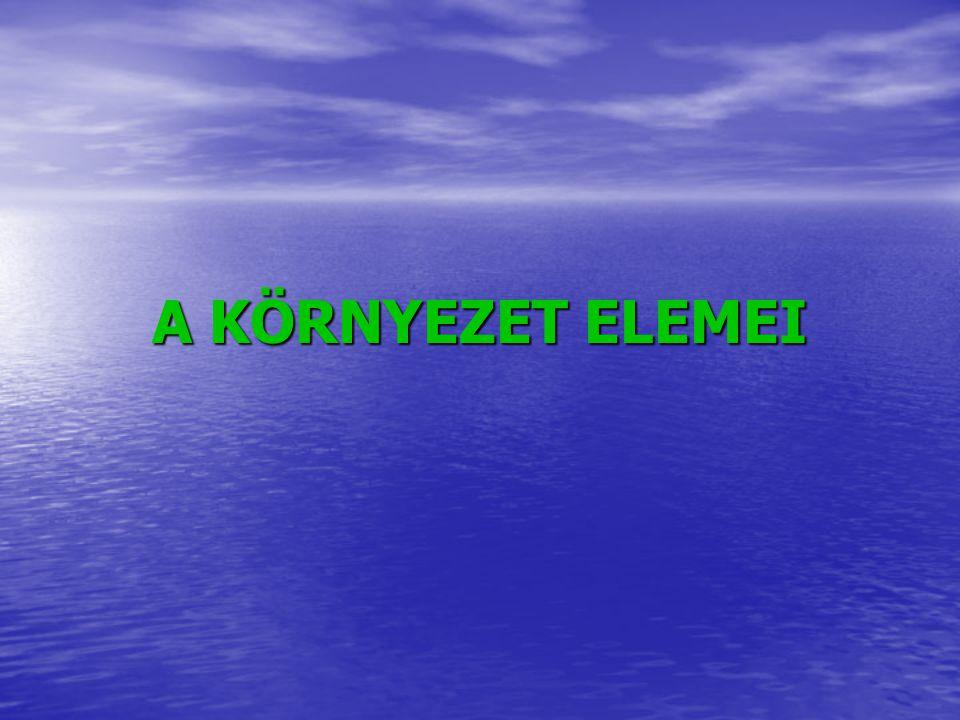 A KÖRNYEZET ELEMEI