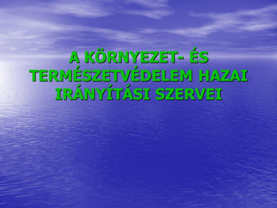A KÖRNYEZET- ÉS TERMÉSZETVÉDELEM HAZAI IRÁNYÍTÁSI SZERVEI