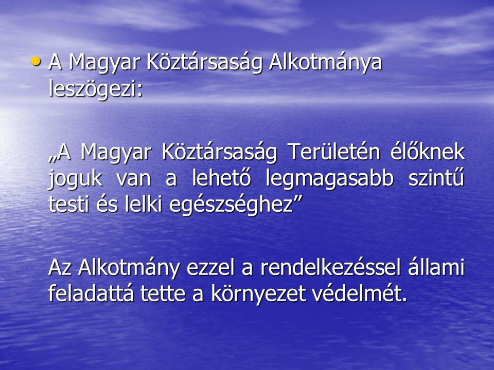 """A Magyar Köztársaság Alkotmánya leszögezi: A Magyar Köztársaság Alkotmánya leszögezi: """"A Magyar Köztársaság Területén élőknek joguk van a lehető legma"""
