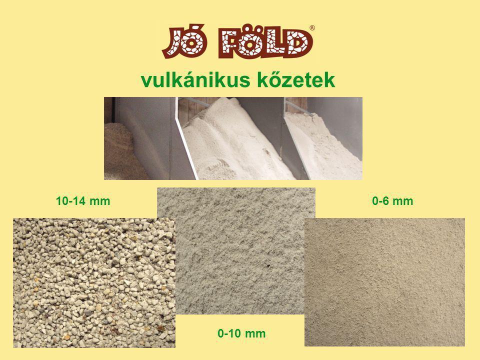vulkánikus kőzetek 10-14 mm 0-10 mm 0-6 mm