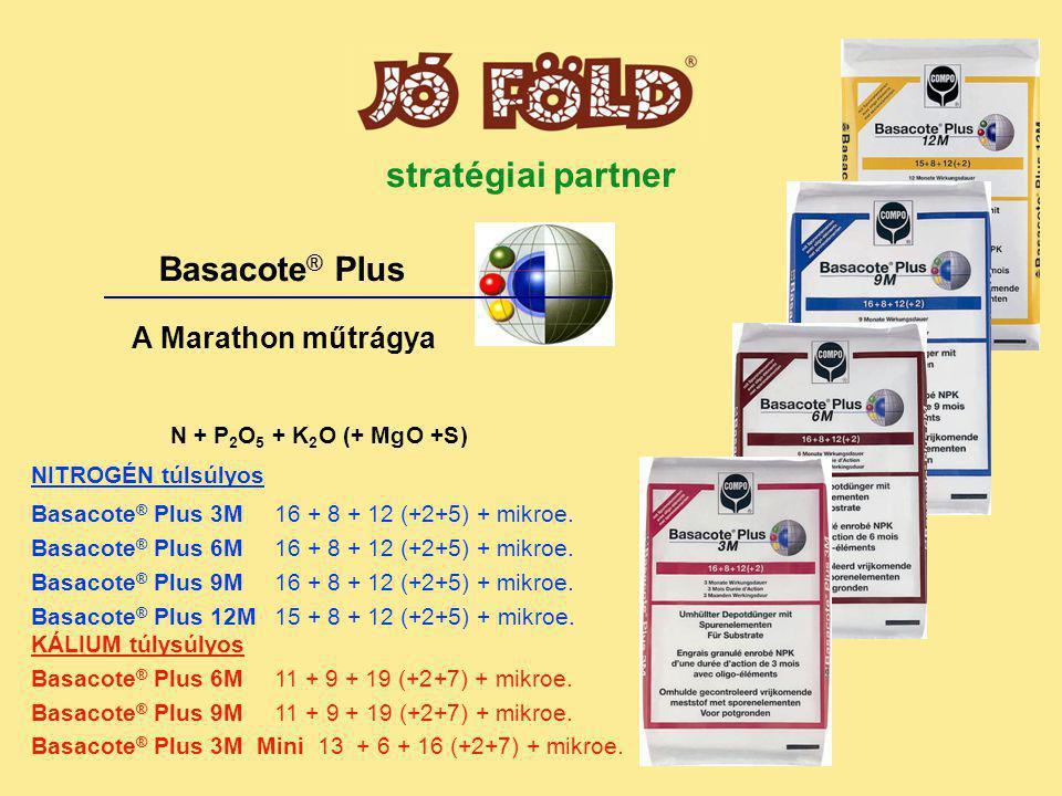 N + P 2 O 5 + K 2 O (+ MgO +S) NITROGÉN túlsúlyos Basacote ® Plus 3M16 + 8 + 12 (+2+5) + mikroe.