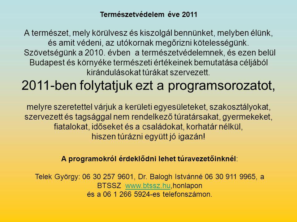 BTSSZ Természetvédelmi és Természetismereti Bizottság Erzsébetvárosi Természetbarát Sportszövetség, ÁPISZ Természetbarát SE.