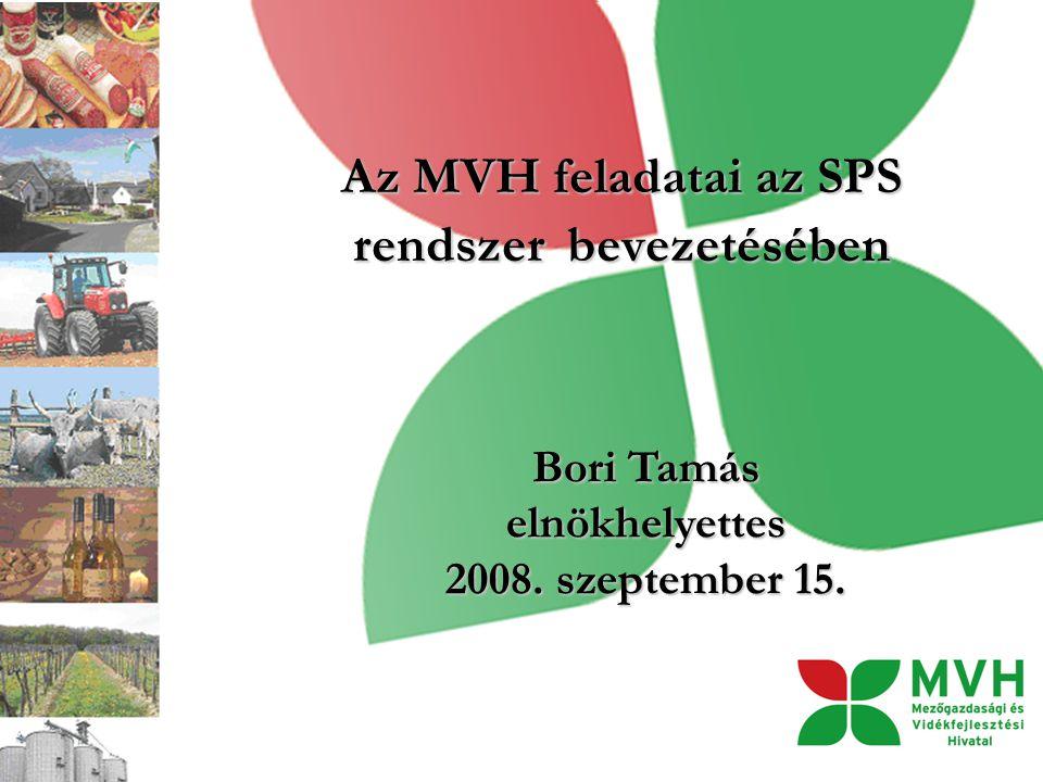 Az MVH feladatai az SPS rendszer bevezetésében Bori Tamás elnökhelyettes 2008. szeptember 15.