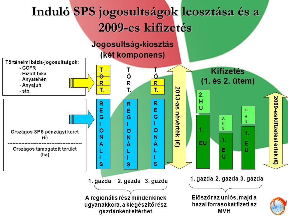 Induló SPS jogosultságok leosztása és a 2009-es kifizetés T Ö R T. REGIONÁLISREGIONÁLIS REGIONÁLISREGIONÁLIS REGIONÁLISREGIONÁLIS A regionális rész mi