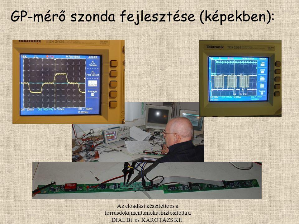 Az előadást készítette és a forrásdokumentumokat biztosította a DIAL Bt. és KAROTÁZS Kft. GP-mérő szonda fejlesztése (képekben):