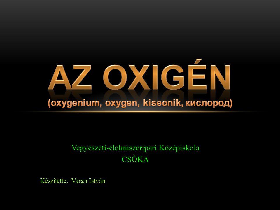  Ipari előállítása Az ipari oxigénszükségletnek 99%-át cseppfolyós levegő rektifikálásával állítják elő.