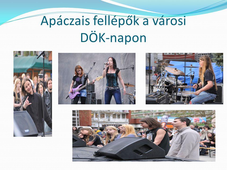 Apáczais fellépők a városi DÖK-napon