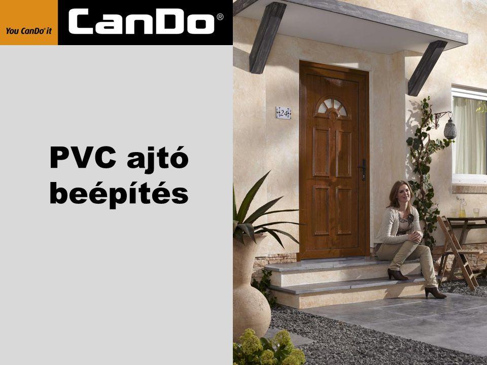 PVC ajtó beépítés