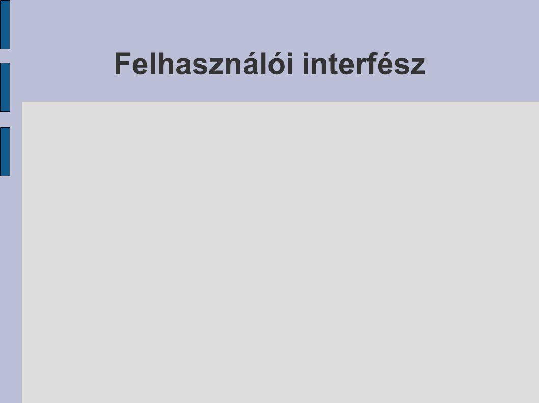 Felhasználói interfész