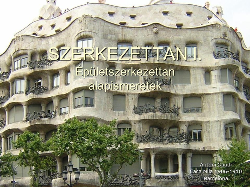 SZERKEZETTAN I. Épületszerkezettan alapismeretek Antoni Gaudi Casa Mila 1906-1910 Barcelona