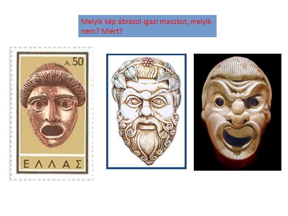 Melyik kép ábrázol igazi maszkot, melyik nem? Miért?