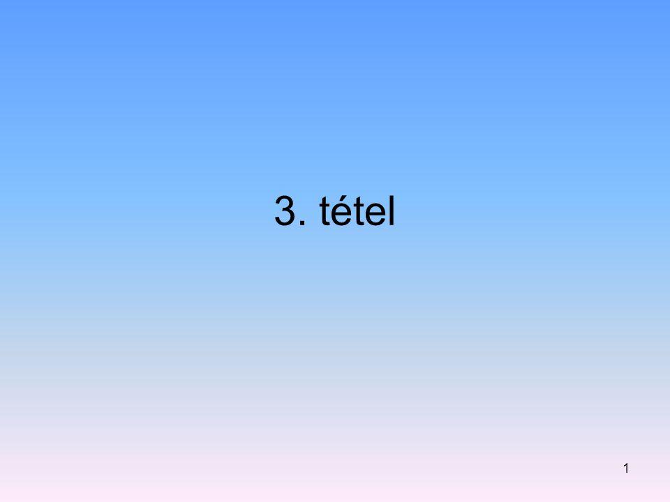3. tétel 1