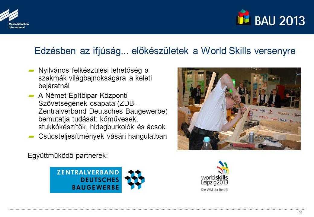Edzésben az ifjúság... előkészületek a World Skills versenyre Nyilvános felkészülési lehetőség a szakmák világbajnokságára a keleti bejáratnál A Német