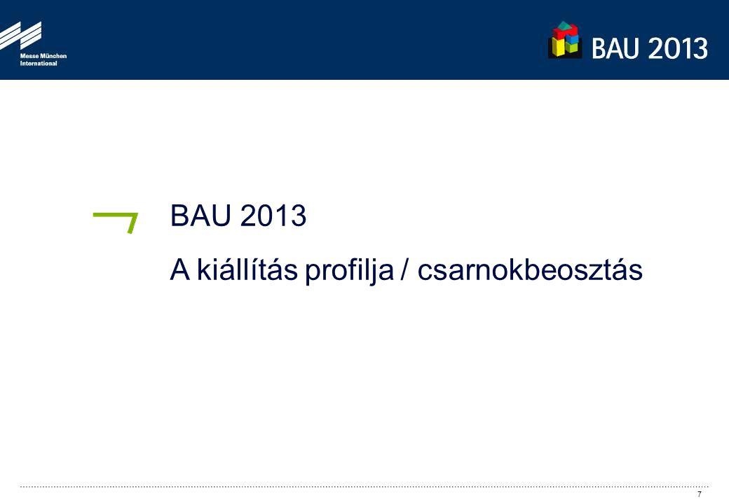 BAU 2013 A kiállítás profilja / csarnokbeosztás 7