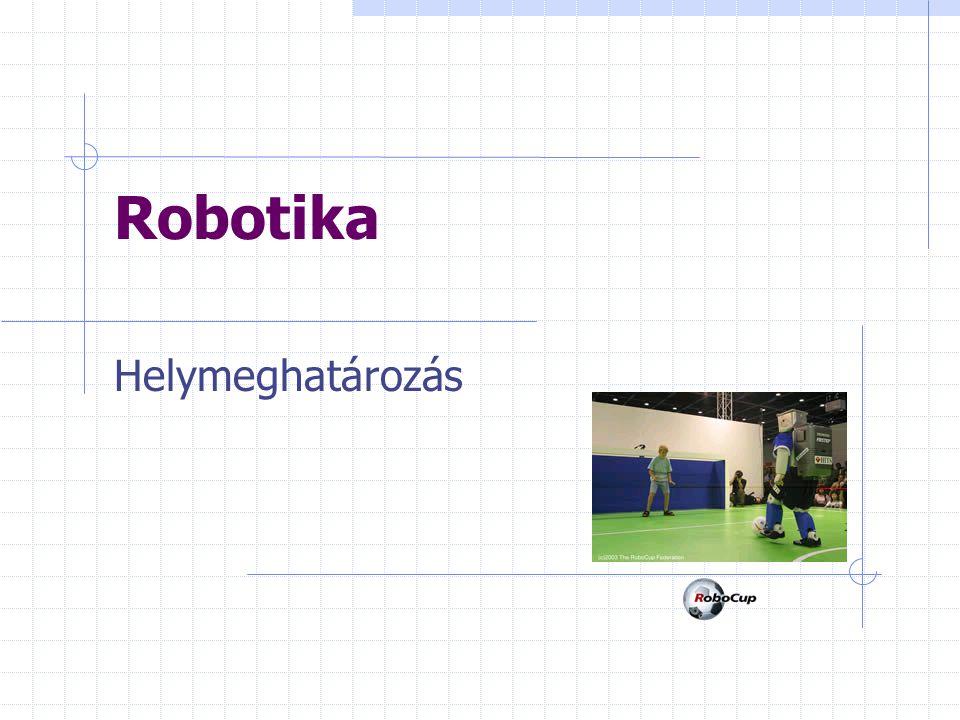 Helyi helymeghatározás Feltételezzük, hogy a robot helyzete egy szűk területen belül adott Globális helymeghatározás A globális megközelítés hatékonyabb, mert a kiindulási hely ismerete nélkül tudják meghatározni a robot helyzetét.