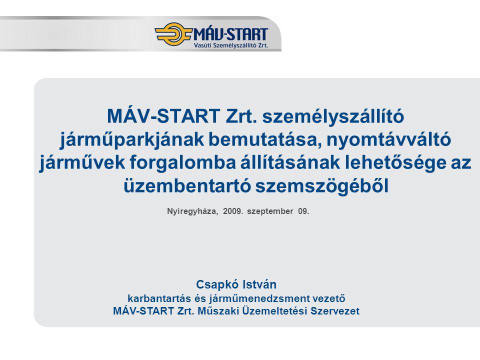2 A MÁV-START Zrt.