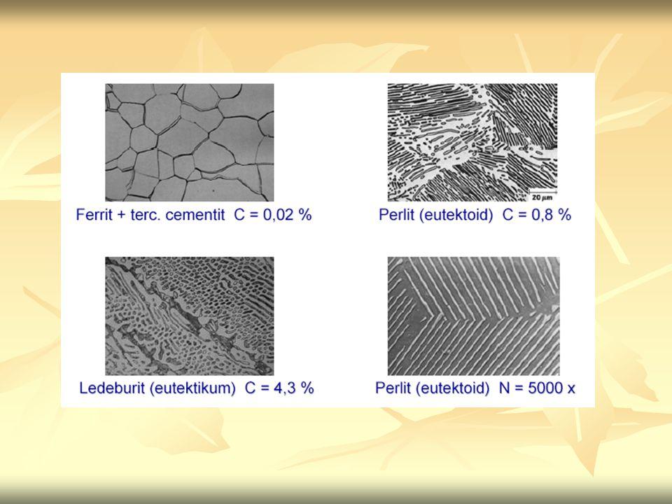 Acélok (vas-szén ötvözet, 2,06s%-nál kisebb széntartalom – kovácsolható) Az acélok tulajdonságai ötvözőelemekkel befolyásolhatók.