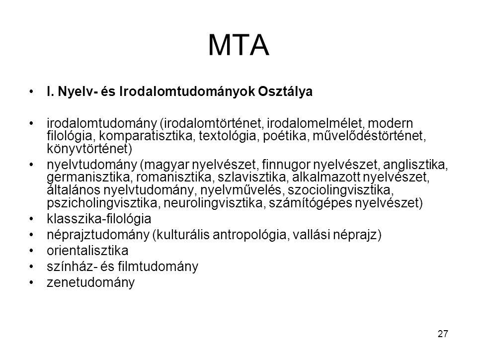 27 MTA I.