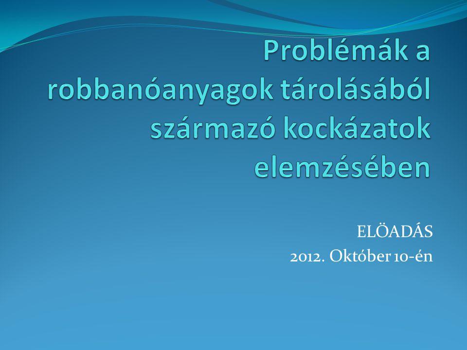 ELŐADÁS 2012. Október 10-én