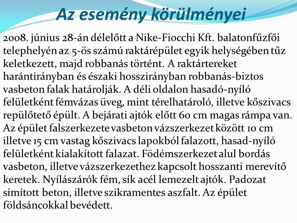 Az esemény körülményei 2008. június 28-án délelőtt a Nike-Fiocchi Kft.