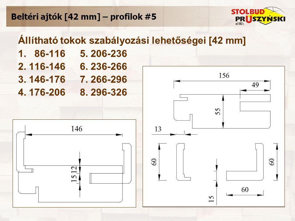 Beltéri ajtók [42 mm] – profilok #5 Állítható tokok szabályozási lehetőségei [42 mm] 1.