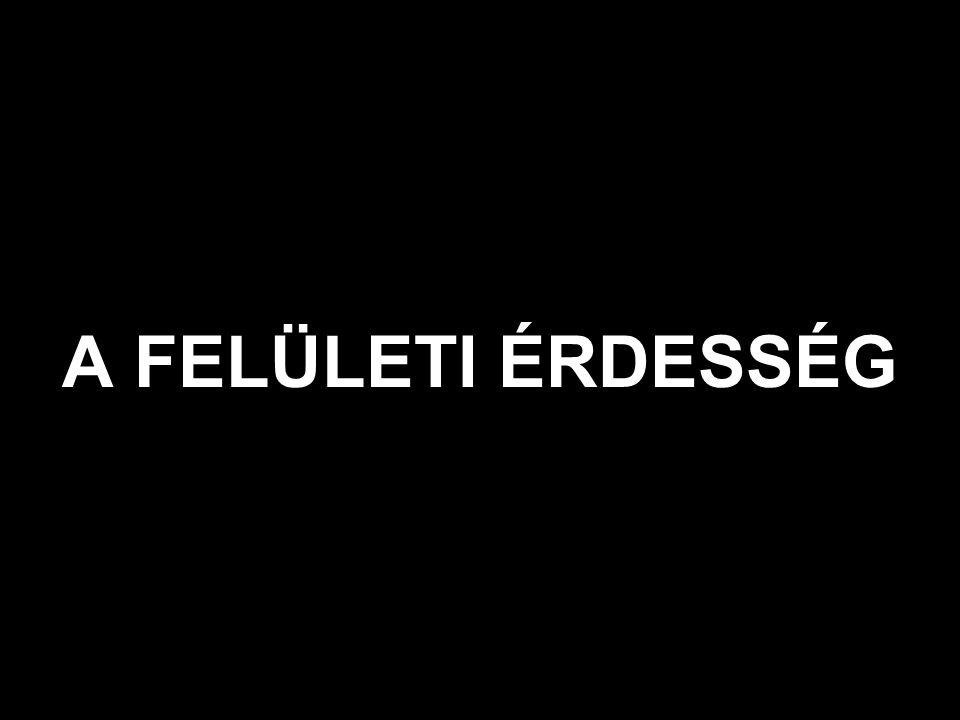 A NÉVLEGES (TERVEZETT) FELÜLETTŐL VALÓ ELTÉRÉS JELLEMZÉSE
