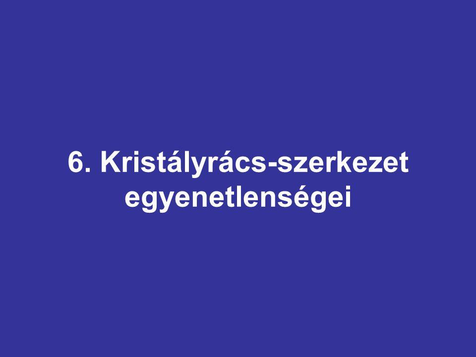 6. Kristályrács-szerkezet egyenetlenségei
