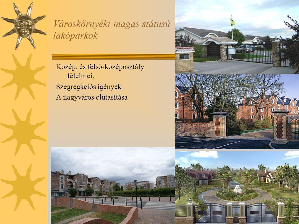 Városkörnyéki magas státusú lakóparkok Közép, és felső-középosztály félelmei, Szegregációs igények A nagyváros elutasítása