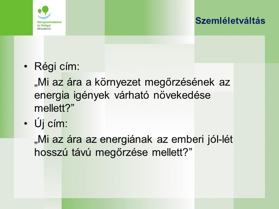 Hazai stratégiák Nemzeti Éghajlatváltozási Stratégia (2007-2025): Az EU kötelezettség vállalásának függvényében a magyarországi üvegházhatású gázkibocsátások szabályozási, illetve csökkentési céljai a jelenlegi előzetes becslések alapján a következőképpen alakulhatnak 2025-re, a időtávjának végére vonatkozóan: –az EU 20%-os egyoldalú kibocsátás-csökkentési vállalása esetén: 16−25%-os csökkentés az 1990-es kibocsátási szinthez képest; –30%-os feltételes EU csökkentési cél esetén: 27−34%-os csökkentés az 1990-es kibocsátási szinthez képest.