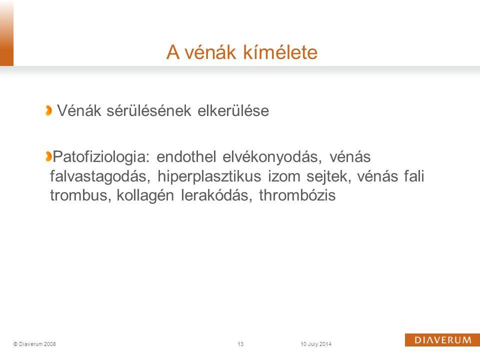 Vénák sérülésének elkerülése Patofiziologia: endothel elvékonyodás, vénás falvastagodás, hiperplasztikus izom sejtek, vénás fali trombus, kollagén ler