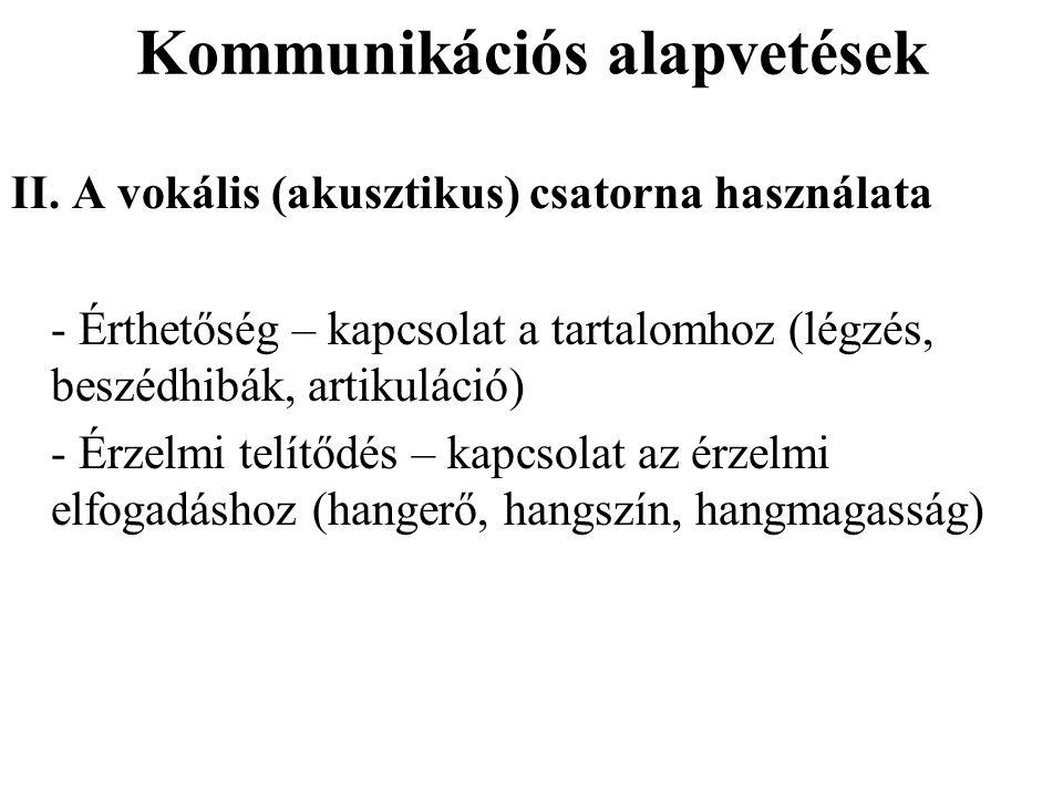 Kommunikációs alapvetések III.