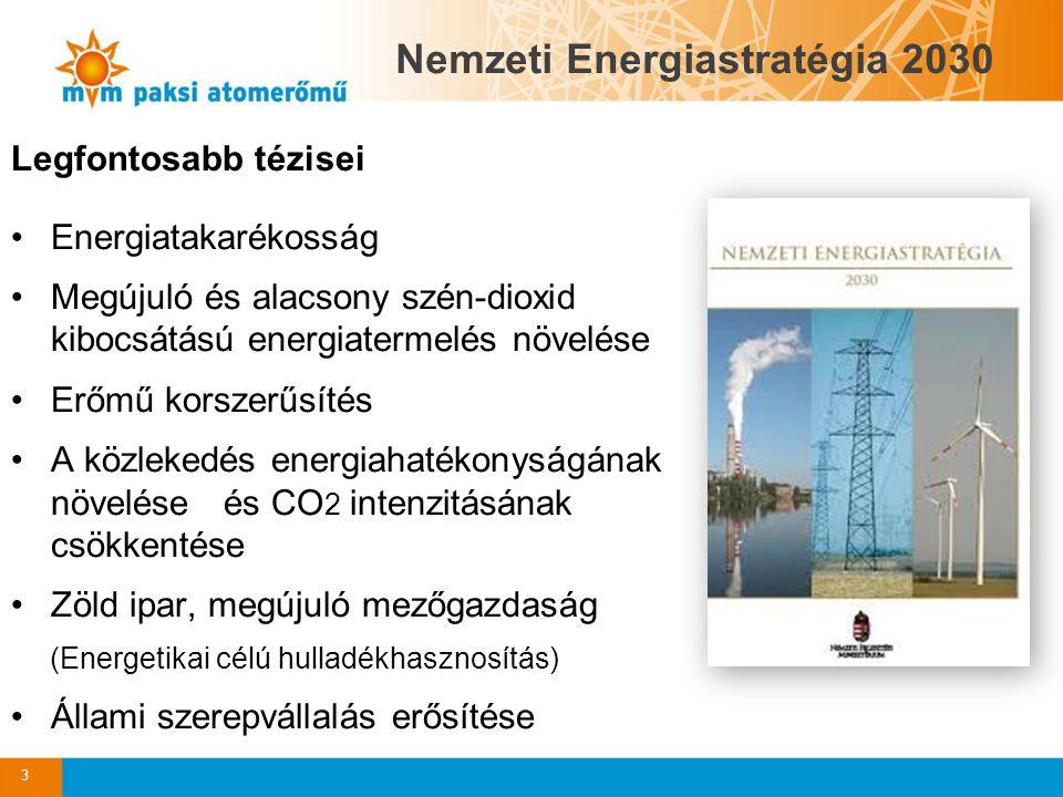Legfontosabb tézisei Energiatakarékosság Megújuló és alacsony szén-dioxid kibocsátású energiatermelés növelése Erőmű korszerűsítés A közlekedés energi