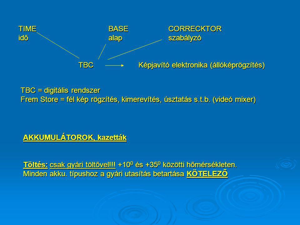 1.) NC típusú akku-t teljesen lemeríteni TILOS 2.) Az elhasznált (lemerített) akku-t lehetőleg azonnal töltsük fel. 3.) Üzemen kívül helyezett akkumul