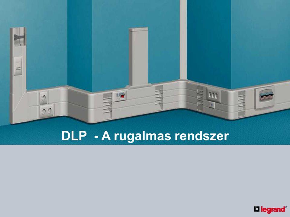 DLP TÖRTÉNELEM 1995 – a Legrand bevezette Magyarországon az új, szerelvényezhető DLP kábelcsatorna termékválasztékát A kábelcsatorna kínálat folyamatosan kiegészül új méretekkel, funkciókkal Ma a Legrand meghatározó gyártó a világpiacon (biztonság, könnyű szerelés, innováció)