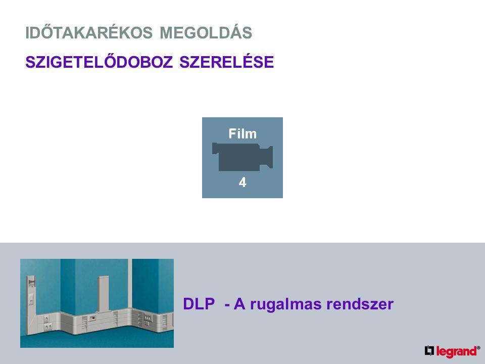 IDŐTAKARÉKOS MEGOLDÁS SZIGETELŐDOBOZ SZERELÉSE DLP - A rugalmas rendszer Film 4