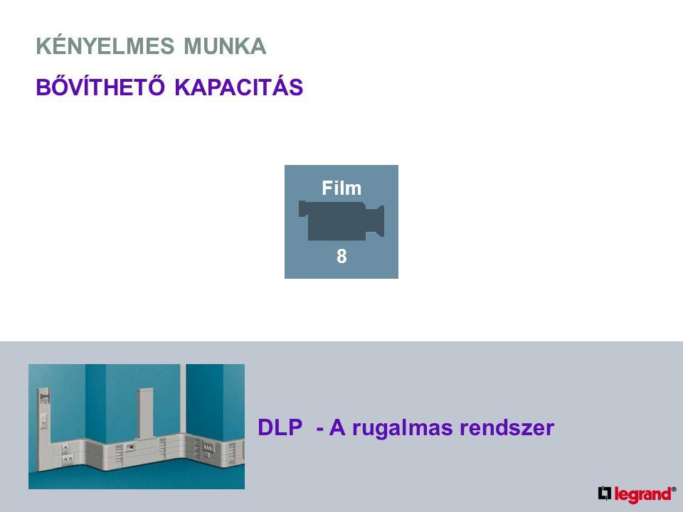 KÉNYELMES MUNKA BŐVÍTHETŐ KAPACITÁS DLP - A rugalmas rendszer Film 8