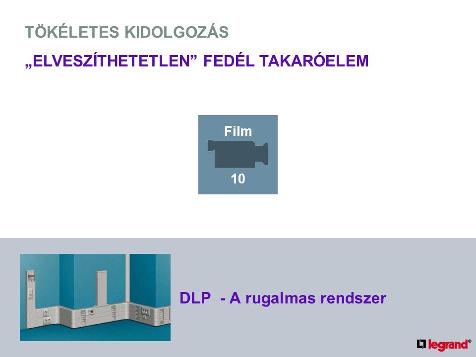 """TÖKÉLETES KIDOLGOZÁS """"ELVESZÍTHETETLEN FEDÉL TAKARÓELEM DLP - A rugalmas rendszer Film 10"""