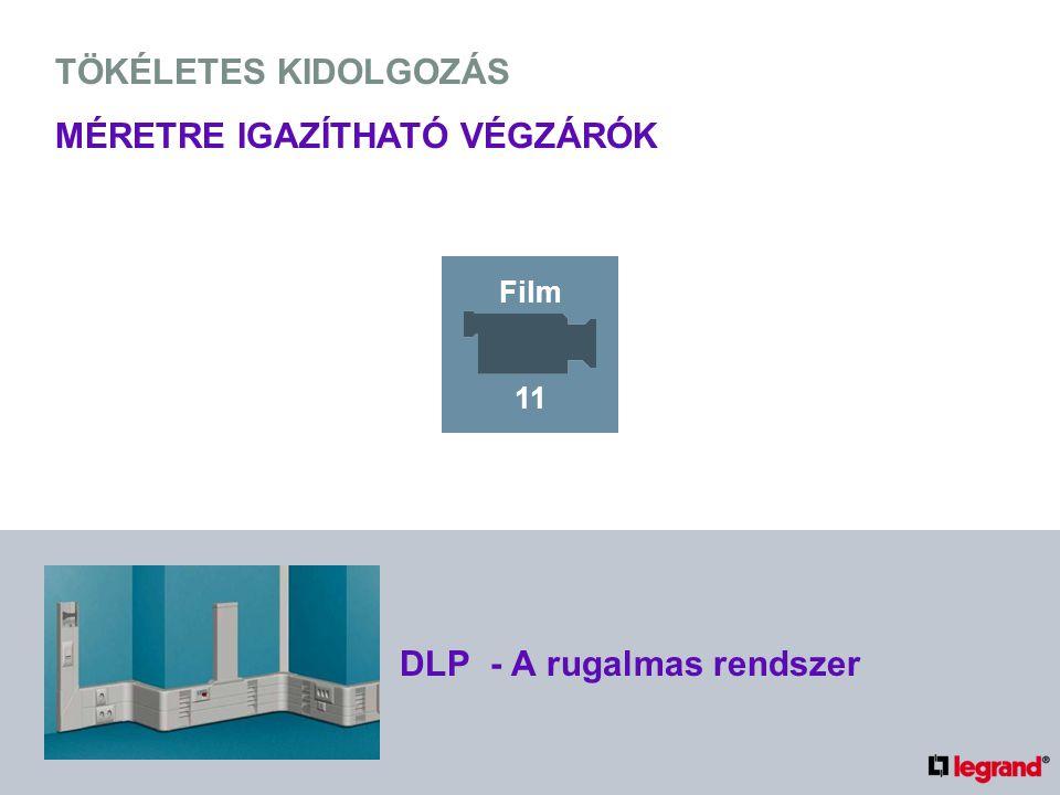 TÖKÉLETES KIDOLGOZÁS MÉRETRE IGAZÍTHATÓ VÉGZÁRÓK DLP - A rugalmas rendszer Film 11