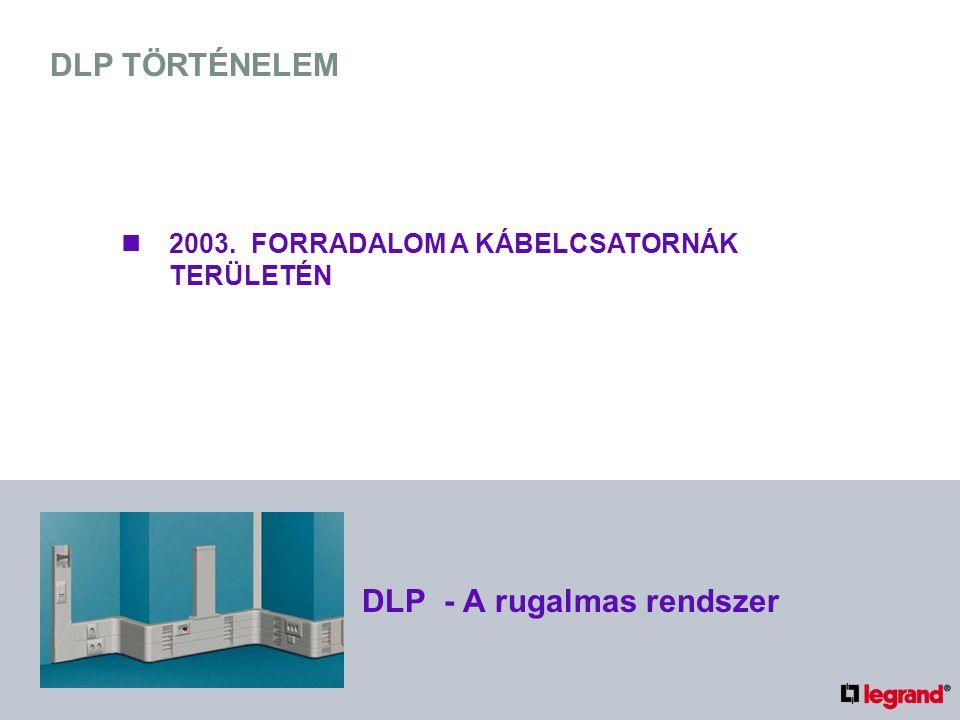 DLP TÖRTÉNELEM 2003. FORRADALOM A KÁBELCSATORNÁK TERÜLETÉN DLP - A rugalmas rendszer