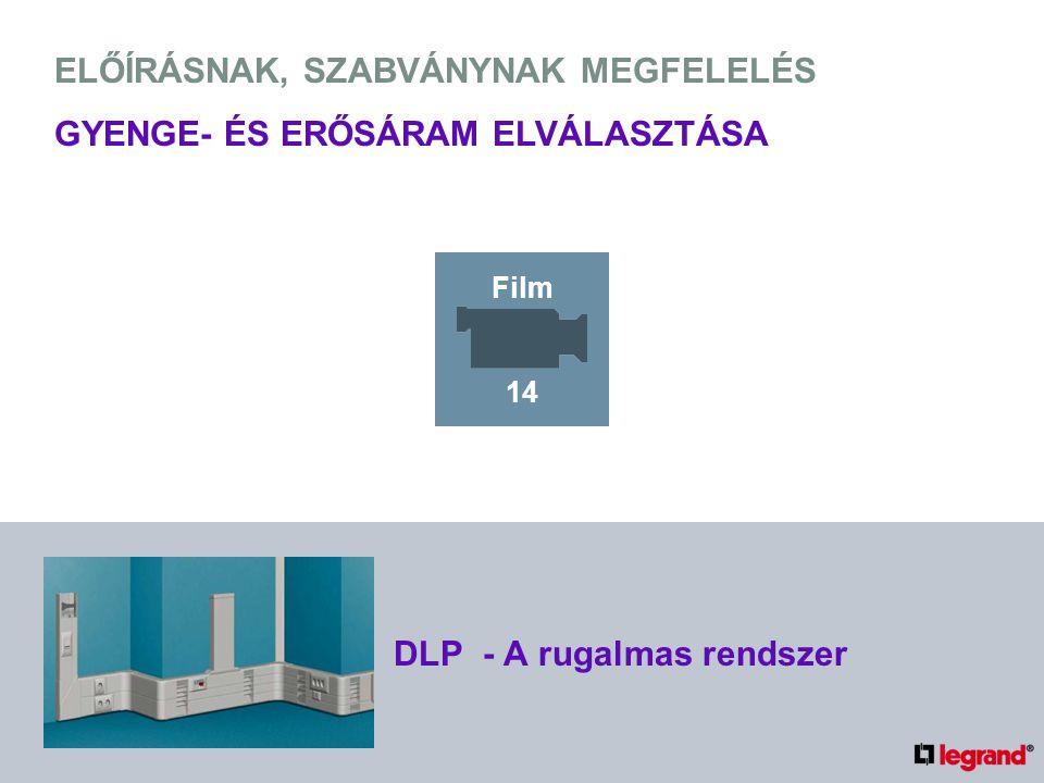 ELŐÍRÁSNAK, SZABVÁNYNAK MEGFELELÉS GYENGE- ÉS ERŐSÁRAM ELVÁLASZTÁSA DLP - A rugalmas rendszer Film 14