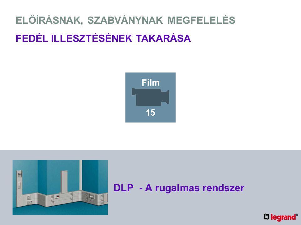 ELŐÍRÁSNAK, SZABVÁNYNAK MEGFELELÉS FEDÉL ILLESZTÉSÉNEK TAKARÁSA DLP - A rugalmas rendszer Film 15