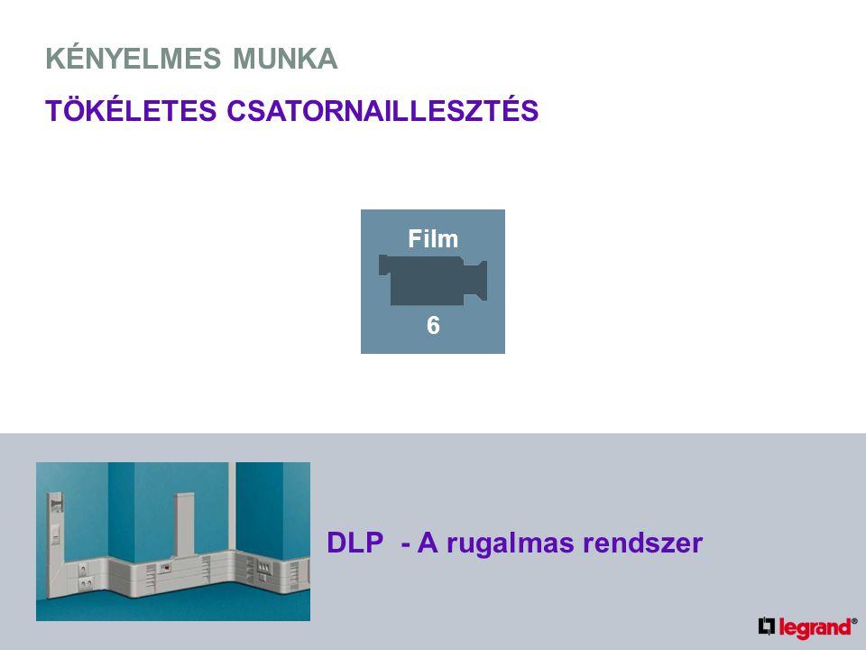 KÉNYELMES MUNKA TÖKÉLETES CSATORNAILLESZTÉS DLP - A rugalmas rendszer Film 6