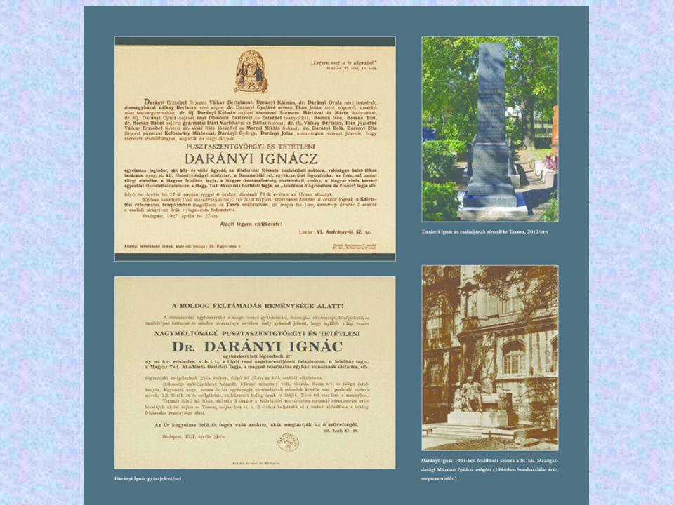 Darányi Ignác szobra a Mezőgazdasági Múzeum (a Millenniumi Mezőgazdasági Kiállítás helye ) a Vajdahunyad vára előtt volt.