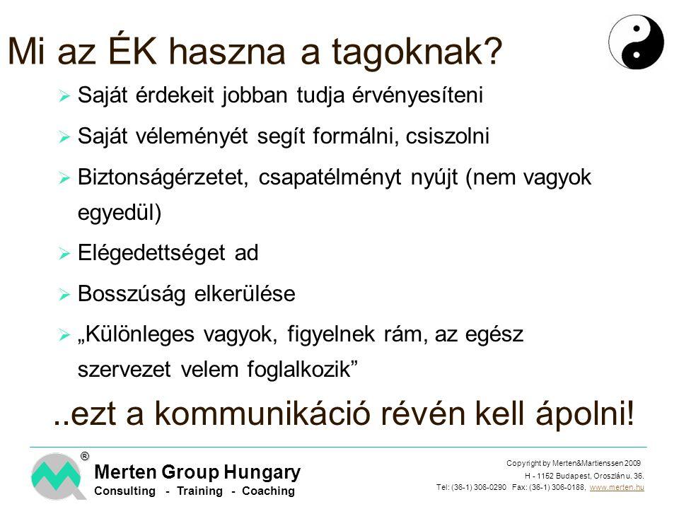 H - 1152 Budapest, Oroszlán u. 36. Tel: (36-1) 306-0290 Fax: (36-1) 306-0188, www.merten.hu Copyright by Merten&Martienssen 2009 Merten Group Hungary