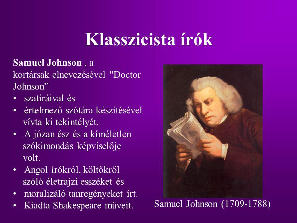 Klasszicista írók Samuel Johnson, a kortársak elnevezésével