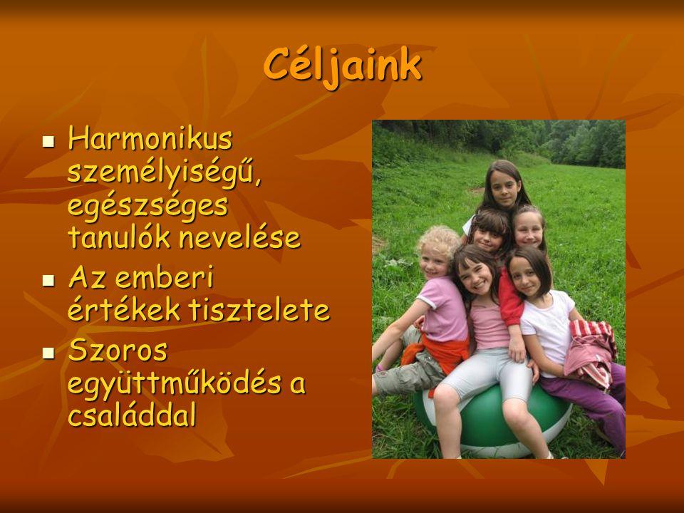 A továbbiakban....V. Osztálytól: intenzív német, illetve angol nyelv tanulásának lehetősége V.
