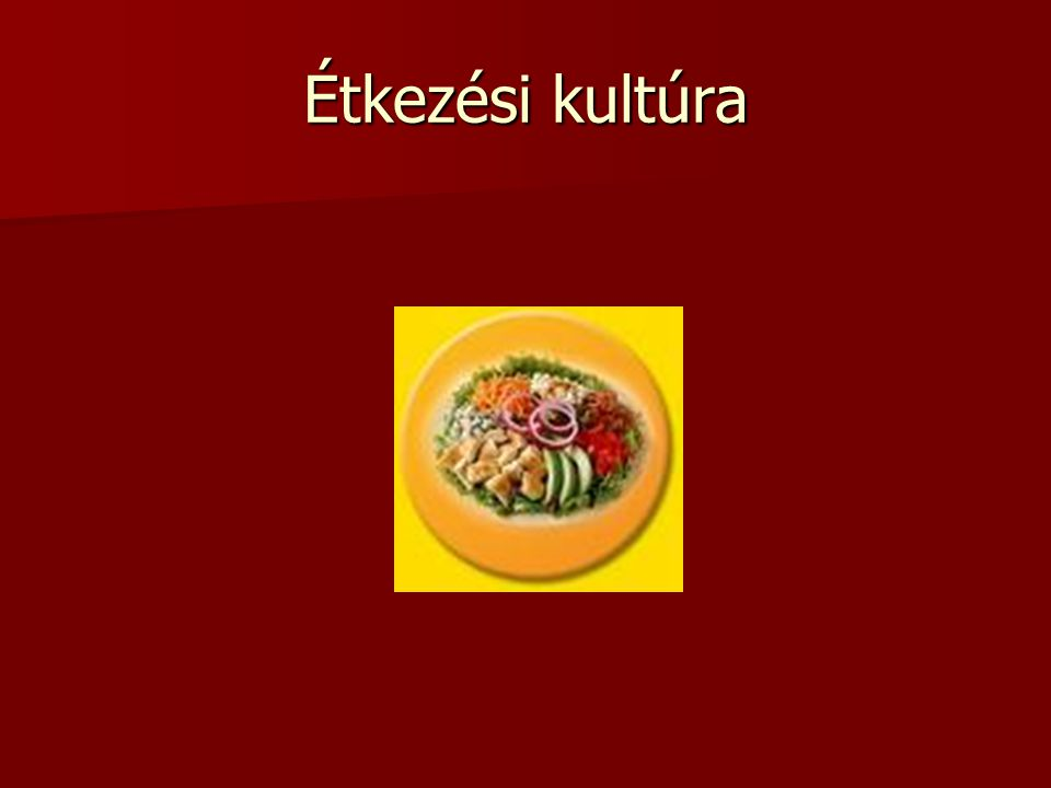 Étkezési kultúra