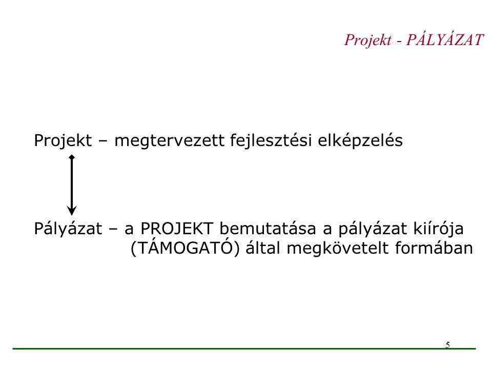 46 Beavatkozási logika INPUTOK BEAVATKOZÁSOK OUTPUT Indikátor (Áruk és szolgáltatások) EREDMÉNY Indikátor Közvetlen és középtávú hatások HATÁS Indikátor Hosszú távú hatások Átfogó célok Projekt célja Eredmé- nyek Program célokProgram célok