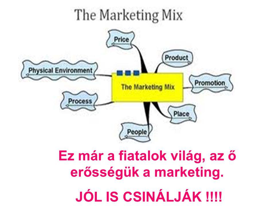 Ez már a fiatalok világ, az ő erősségük a marketing. JÓL IS CSINÁLJÁK !!!!